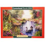 упаковка игры Пазл Черные лебеди 1500 элементов Castorland