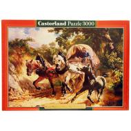 упаковка игры Пазл Крытый фургон на узкой тропе 3000 элементов Castorland