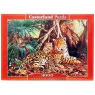 упаковка игры Пазл Ягуары в джунглях 3000 элементов Castorland