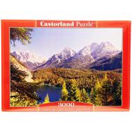 упаковка игры Пазл Озеро в Альпах 3000 элементов Castorland