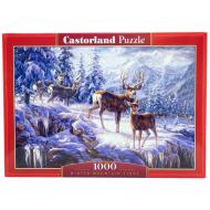 упаковка игры Пазл Зимние горы 1000 элементов Castorland