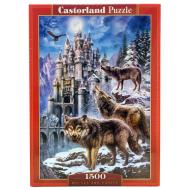 упаковка игры Пазл Волки и замок Castorland