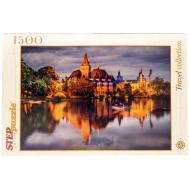 упаковка игры Пазл Замок у озера 1500 элементов Step Puzzle