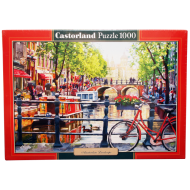 упаковка игры Пазл Пейзаж Амстердам 1000 элементов Castorland