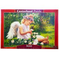 упаковка игры Пазл Ангел в саду 500 элементов Castorland