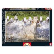 упаковка игры Пазл Белые камаргские лошади Educa