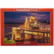 упаковка игры Пазл Будапешт в сумерках 2000 элементов Castorland