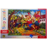 упаковка игры Пазл Буратино 360 элементов Step Puzzle
