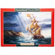 упаковка игры Пазл Парусник 1500 элементов Castorland