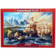 упаковка игры Пазл Приключения в Новом Свете 1500 элементов Castorland