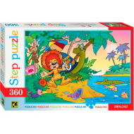 упаковка игры Пазл Львенок и черепаха 360 элементов Step Puzzle
