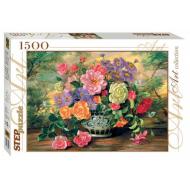 упаковка игры Пазл Цветы в вазе 1500 элементов Step Puzzle