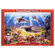 упаковка игры Пазл Дельфины 500 элементов Castorland