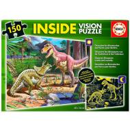упаковка игры Пазл Динозавры с люминисцентным свечением в темноте