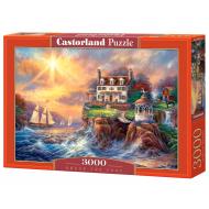 упаковка игры Пазл Дом на берегу 3000 элементов Castorland