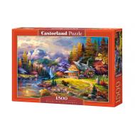 упаковка игры Пазл Домик в горах 1500 элементов Castorland
