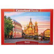 упаковка игры Пазл Храм в Санкт-Петербурге 500 элементов Castorland