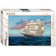 упаковка игры Пазл Корабль 1000 элементов Step Puzzle