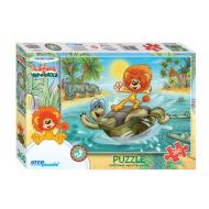 упаковка игры Пазл Львенок и черепаха 260 элементов Step Puzzle