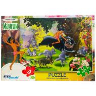 упаковка игры Пазл Маугли 160 элементов Step Puzzle
