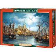 упаковка игры Пазл Новый день в гавани 3000 элементов Castorland