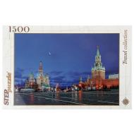 упаковка игры Пазл Москва Красная площадь 1500 элементов Step Puzzle