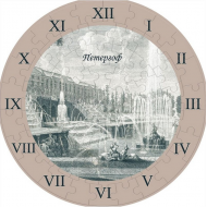 упаковка игры Часы-пазл Петергоф Умная бумага
