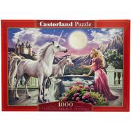 упаковка игры Пазл Принцесса и ее единорог 1000 элементов Castorland