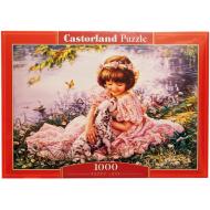 упаковка игры Пазл Девочка и щенок 1000 элементов Castorland