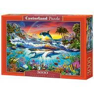 упаковка игры Пазл Райская бухта 3000 элементов Castorland