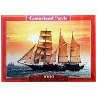 упаковка игры Пазл Парусник на закате 1000 элементов Castorland