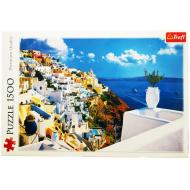 упаковка игры Пазл Санторини, Греция 1500 элементов Trefl