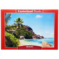 упаковка игры Пазл Пляж Сейшелы 3000 элементов Castorland