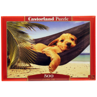 упаковка игры Пазл Щенок в гамаке 500 элементов Castorland