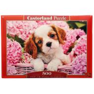 упаковка игры Пазл Щенок в цветах 500 элементов Castorland
