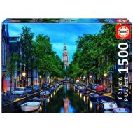 упаковка игры Пазл Сумерки на канале в Амстердаме Educa