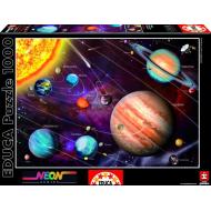 упаковка игры Пазл Солнечная система с неоновым свечением в темноте