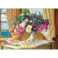 упаковка игры Пазл «Утренние цветы» 1000 элементов