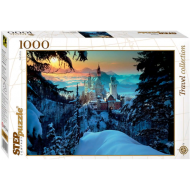 упаковка игры Пазл «Бавария. Замок Нойшванштайн» 1000 элементов