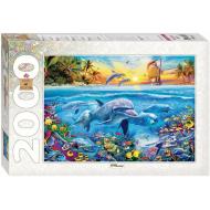 упаковка игры Пазл «Дельфины» 2000 элементов
