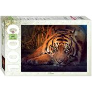 упаковка игры Пазл «Сибирский тигр» 1000 элементов