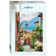 упаковка игры Пазл «Италия. Вид на озеро Комо» 1500 элементов