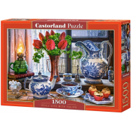 упаковка игры Пазл «Натюрморт с тюльпанами» 1500 элементов