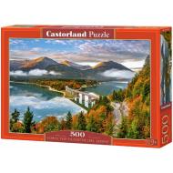 упаковка игры Пазл «Восход солнца над озером Сильвенштайн, Германия» 500 элементов