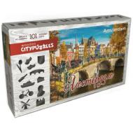 упаковка игры Деревянный фигурный пазл Амстердам Citypuzzles