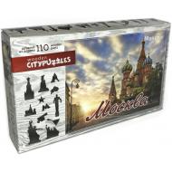 упаковка игры Деревянный фигурный пазл Москва Citypuzzles