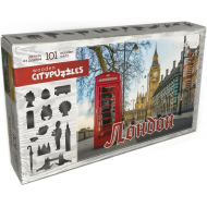 упаковка игры Деревянный фигурный пазл Лондон Citypuzzles