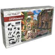 упаковка игры Деревянный фигурный пазл Венеция Citypuzzles