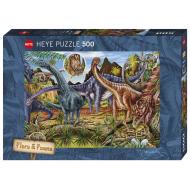 упаковка игры Пазл Травоядные динозавры 500 деталей