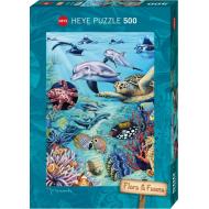 упаковка игры Пазл Подводные обитатели 500 деталей